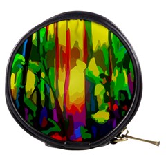 Abstract Vibrant Colour Botany Mini Makeup Bags