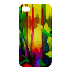 Abstract Vibrant Colour Botany Apple Iphone 4/4s Premium Hardshell Case