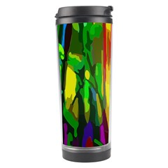 Abstract Vibrant Colour Botany Travel Tumbler