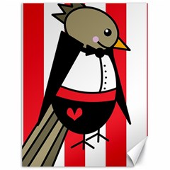 Bird Cute Design Cartoon Drawing Canvas 18  X 24   by Celenk