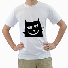 Cat Vector Clipart Figure Animals Men s T Shirt (white) (two Sided)