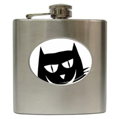 Cat Vector Clipart Figure Animals Hip Flask (6 Oz) by Celenk