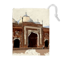 Agra Taj Mahal India Palace Drawstring Pouches (extra Large)