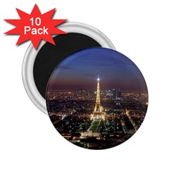Paris At Night 2 25  Magnets (10 Pack)  by Celenk