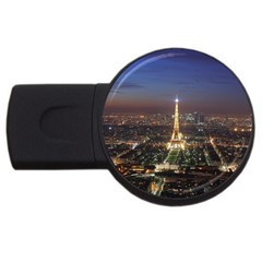 Paris At Night Usb Flash Drive Round (4 Gb) by Celenk
