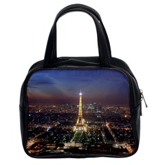 Paris At Night Classic Handbags (2 Sides)