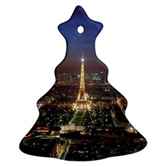 Paris At Night Christmas Tree Ornament (two Sides) by Celenk