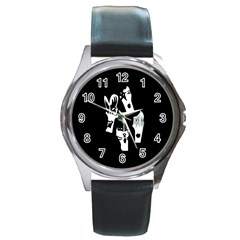 Kiss Band Logo Round Metal Watch