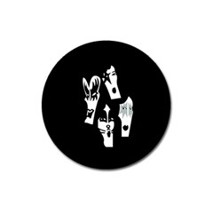 Kiss Band Logo Magnet 3  (round)