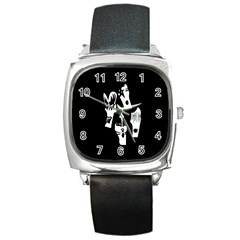 Kiss Band Logo Square Metal Watch by Celenk