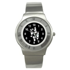 Kiss Band Logo Stainless Steel Watch by Celenk