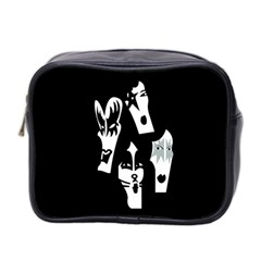 Kiss Band Logo Mini Toiletries Bag 2 Side by Celenk