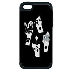 Kiss Band Logo Apple Iphone 5 Hardshell Case (pc+silicone)