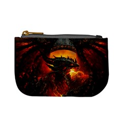 Dragon Legend Art Fire Digital Fantasy Mini Coin Purses by Celenk