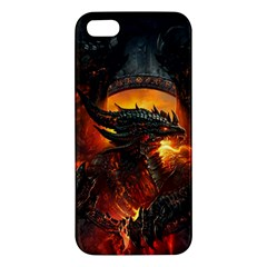 Dragon Legend Art Fire Digital Fantasy Iphone 5s/ Se Premium Hardshell Case by Celenk