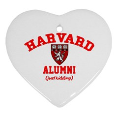 Harvard Alumni Just Kidding Heart Ornament (two Sides)