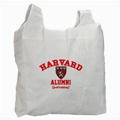 Harvard Alumni Just Kidding Recycle Bag (two Side)  by Celenk