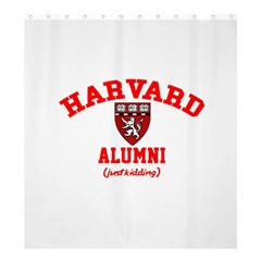 Harvard Alumni Just Kidding Shower Curtain 66  X 72  (large)  by Celenk