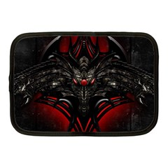 Black Dragon Grunge Netbook Case (medium)  by Celenk