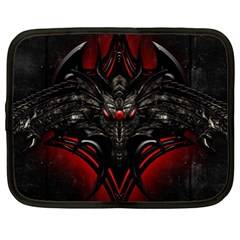 Black Dragon Grunge Netbook Case (xl)