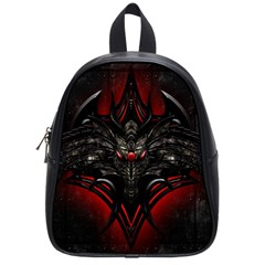 Black Dragon Grunge School Bag (small) by Celenk