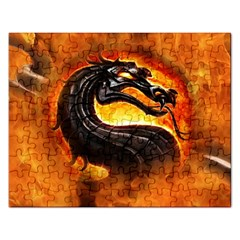 Dragon And Fire Rectangular Jigsaw Puzzl by Celenk