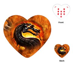Dragon And Fire Playing Cards (heart)  by Celenk