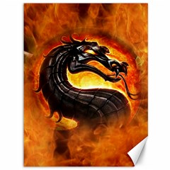 Dragon And Fire Canvas 36  X 48   by Celenk