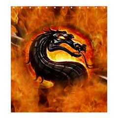 Dragon And Fire Shower Curtain 66  X 72  (large)  by Celenk