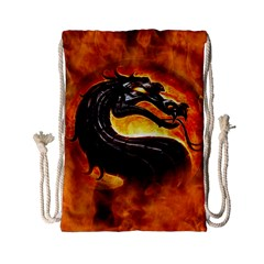 Dragon And Fire Drawstring Bag (small) by Celenk