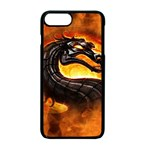 Dragon And Fire Apple iPhone 7 Plus Seamless Case (Black) Front
