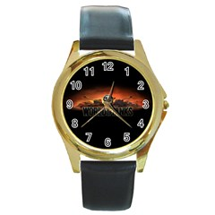 World Of Tanks Round Gold Metal Watch