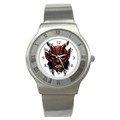 Krampus Devil Face Stainless Steel Watch by Celenk