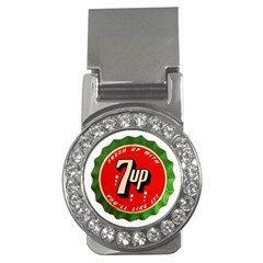 Fresh Up With  7 Up Bottle Cap Tin Metal Money Clips (cz)  by Celenk