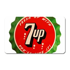 Fresh Up With  7 Up Bottle Cap Tin Metal Magnet (rectangular) by Celenk