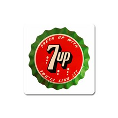 Fresh Up With  7 Up Bottle Cap Tin Metal Square Magnet