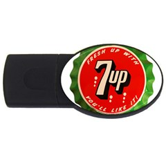 Fresh Up With  7 Up Bottle Cap Tin Metal Usb Flash Drive Oval (4 Gb) by Celenk