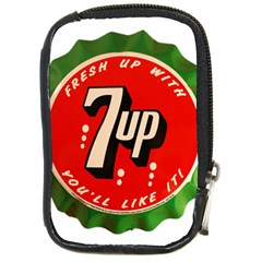 Fresh Up With  7 Up Bottle Cap Tin Metal Compact Camera Cases by Celenk