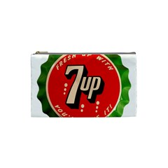 Fresh Up With  7 Up Bottle Cap Tin Metal Cosmetic Bag (small)  by Celenk