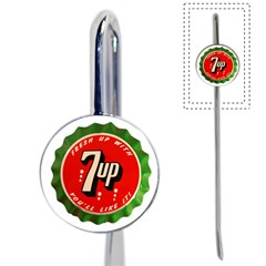 Fresh Up With  7 Up Bottle Cap Tin Metal Book Mark by Celenk