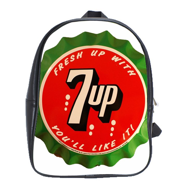 Fresh Up With  7 Up Bottle Cap Tin Metal School Bag (XL)