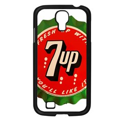 Fresh Up With  7 Up Bottle Cap Tin Metal Samsung Galaxy S4 I9500/ I9505 Case (black) by Celenk
