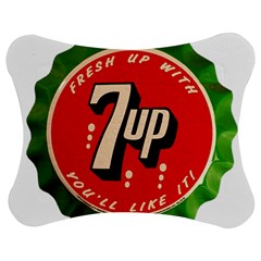 Fresh Up With  7 Up Bottle Cap Tin Metal Jigsaw Puzzle Photo Stand (bow) by Celenk
