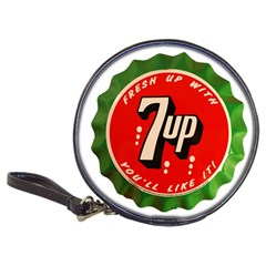 Fresh Up With  7 Up Bottle Cap Tin Metal Classic 20 Cd Wallets by Celenk
