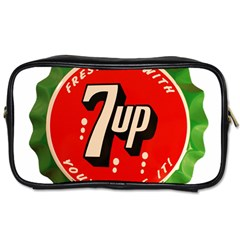 Fresh Up With  7 Up Bottle Cap Tin Metal Toiletries Bags 2 Side by Celenk