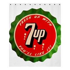 Fresh Up With  7 Up Bottle Cap Tin Metal Shower Curtain 60  X 72  (medium)  by Celenk