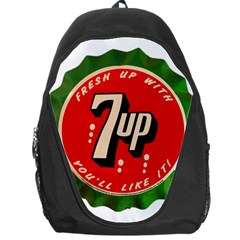 Fresh Up With  7 Up Bottle Cap Tin Metal Backpack Bag by Celenk