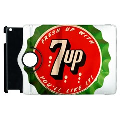 Fresh Up With  7 Up Bottle Cap Tin Metal Apple Ipad 2 Flip 360 Case by Celenk