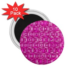 Classic Blocks,pink 2 25  Magnets (10 Pack)  by MoreColorsinLife