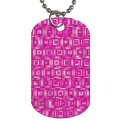 Classic Blocks,pink Dog Tag (two Sides) by MoreColorsinLife